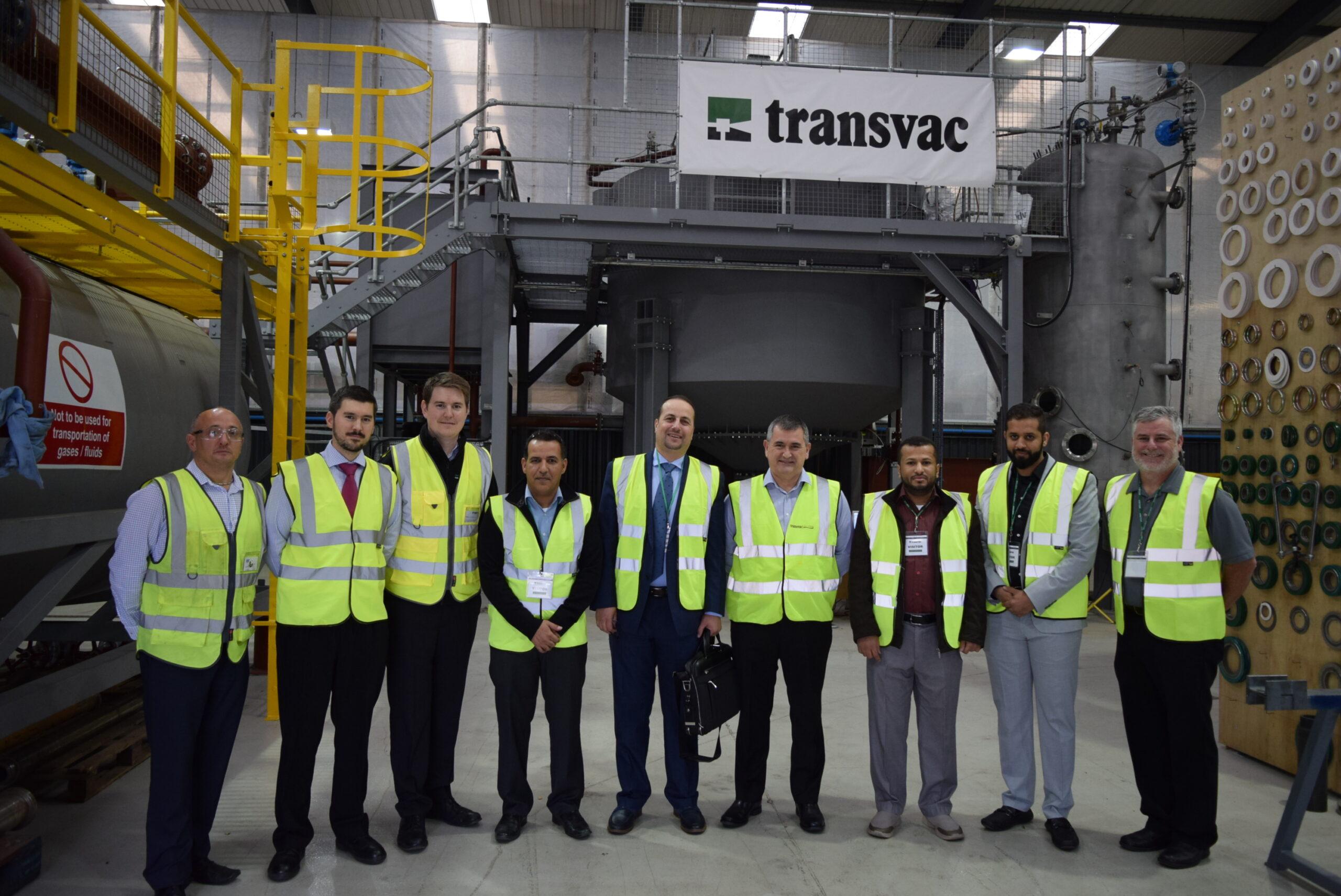 Saudi Aramco Team at Transvac's Test Facility