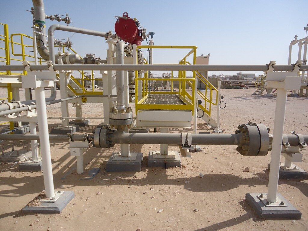 A simple Flare Gas Ejector installation in Oman. Used to recover vent gas from storage tanks (that was previously flared), it is driven by high pressure motive water from an existing water injection pump and discharges into an existing downstream separator where the gas is recovered, eliminating emissions.