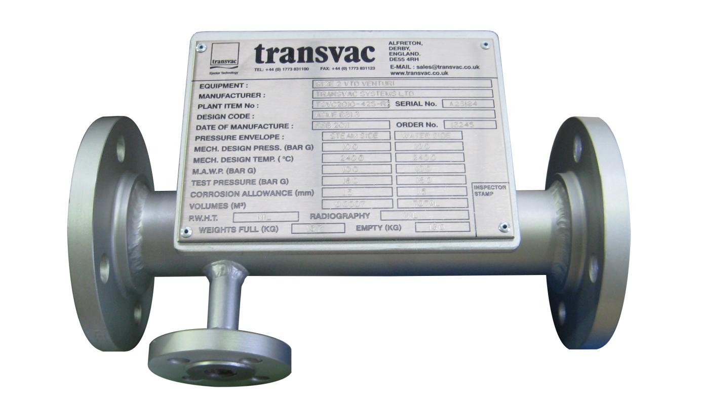 "Transvac Size 2"" Venturi Type Desuperheater"